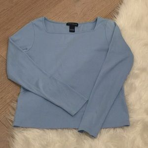 Ann Taylor Soft Blue Long Sleeve